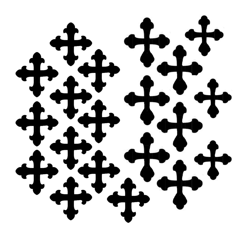 Vintage Crosses small 6x6 stencil
