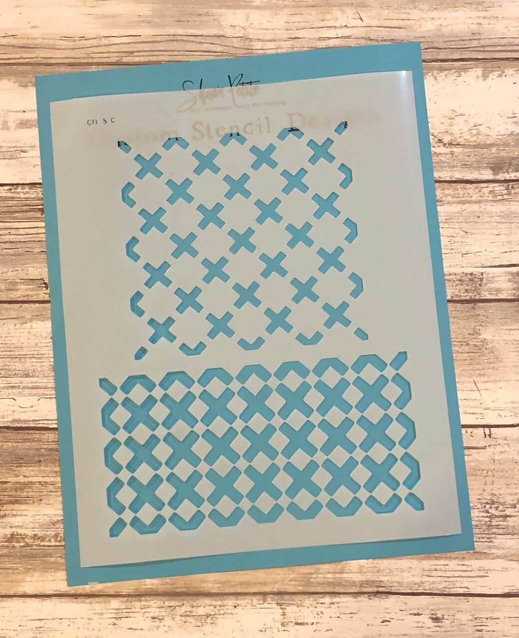 """Criss Cross"" clearance stencils"