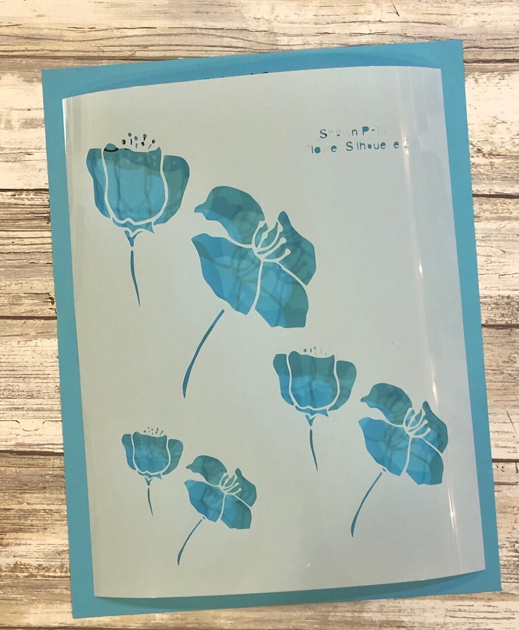 """Flower Silhouette 2"" clearance stencils"