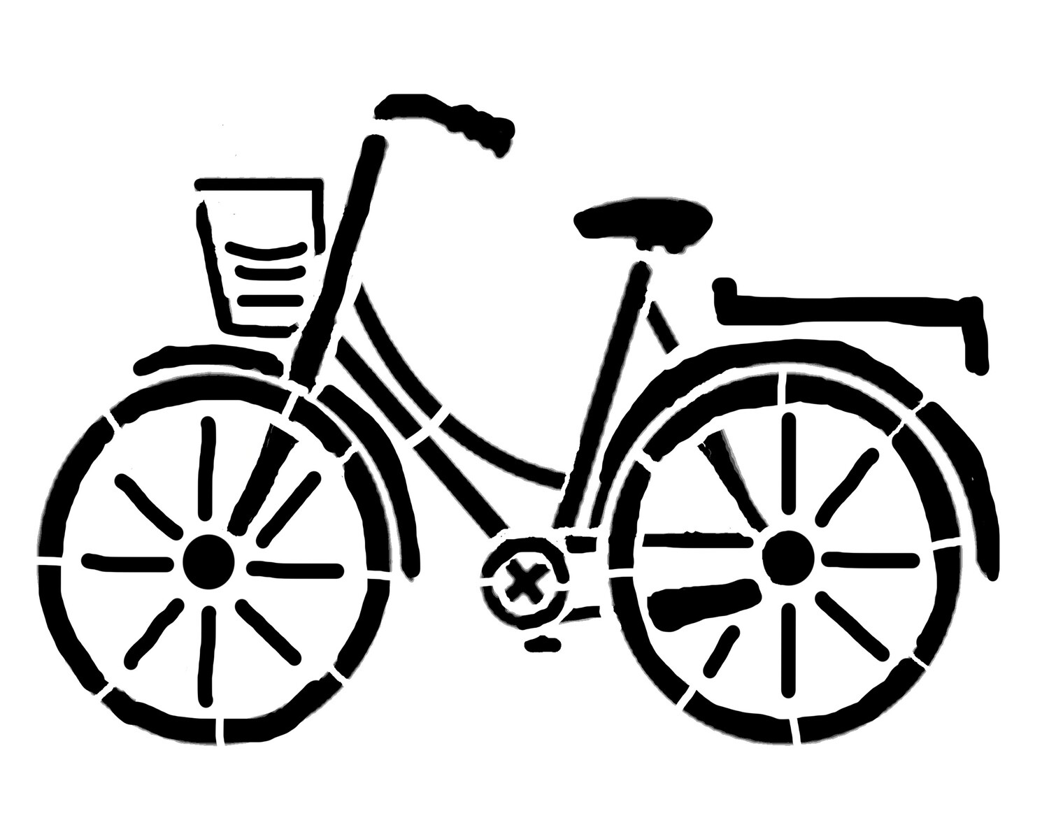 Bicycle large stencil
