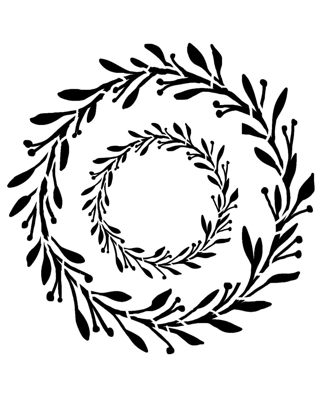 Spring Wreath stencil
