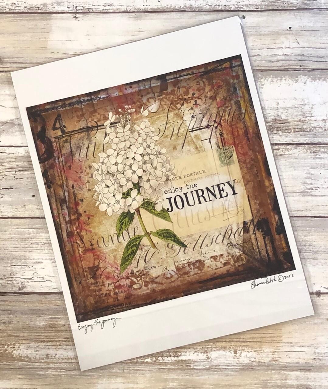 """Enjoy the Journey"" 8x8 Clearance"