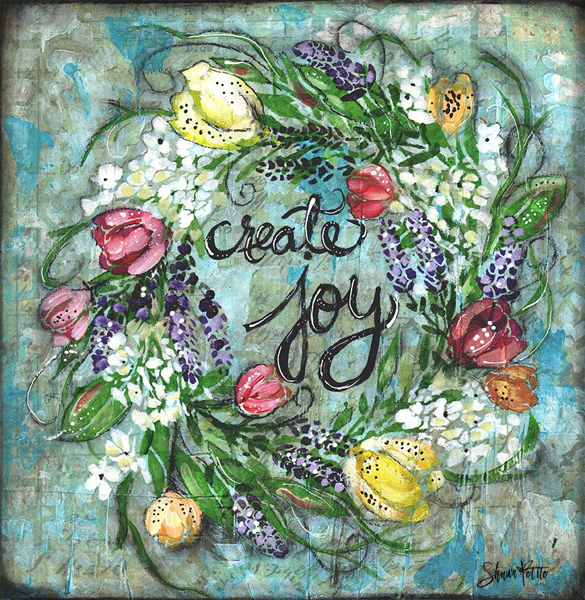 """""""Create Joy"""" Print on Wood and Print to be Framed"""