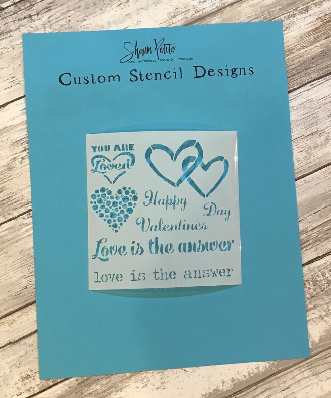 Valentines Love Is The Answer clearance stencil