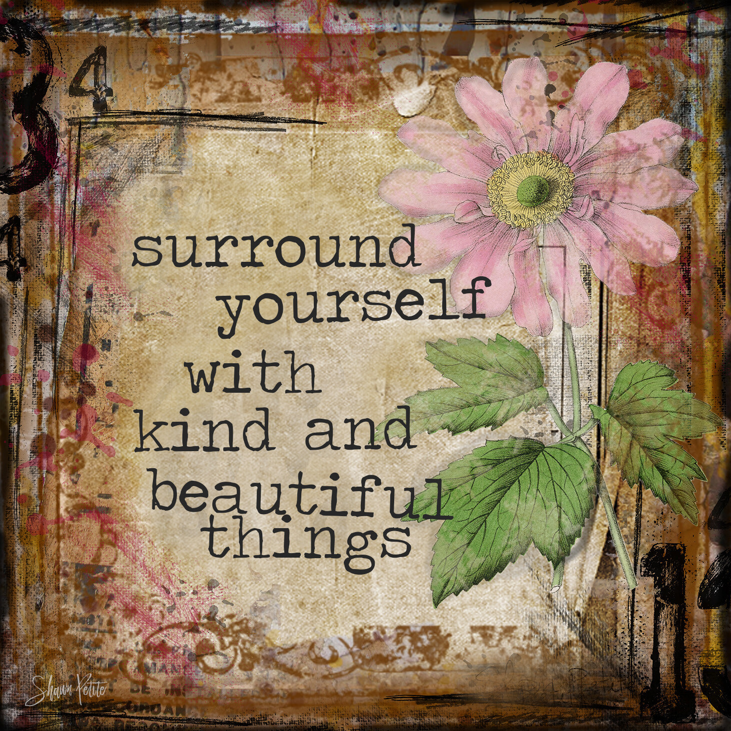 """""""Surround Yourself"""" Flower 4x4 Clearance"""