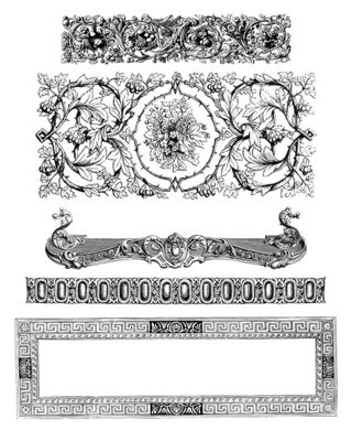 Decorative Elements and Borders instant download