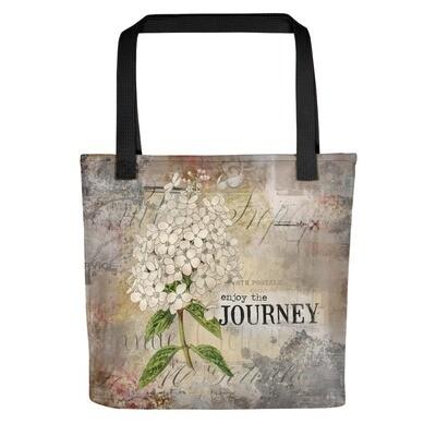 Enjoy the Journey flower Tote bag