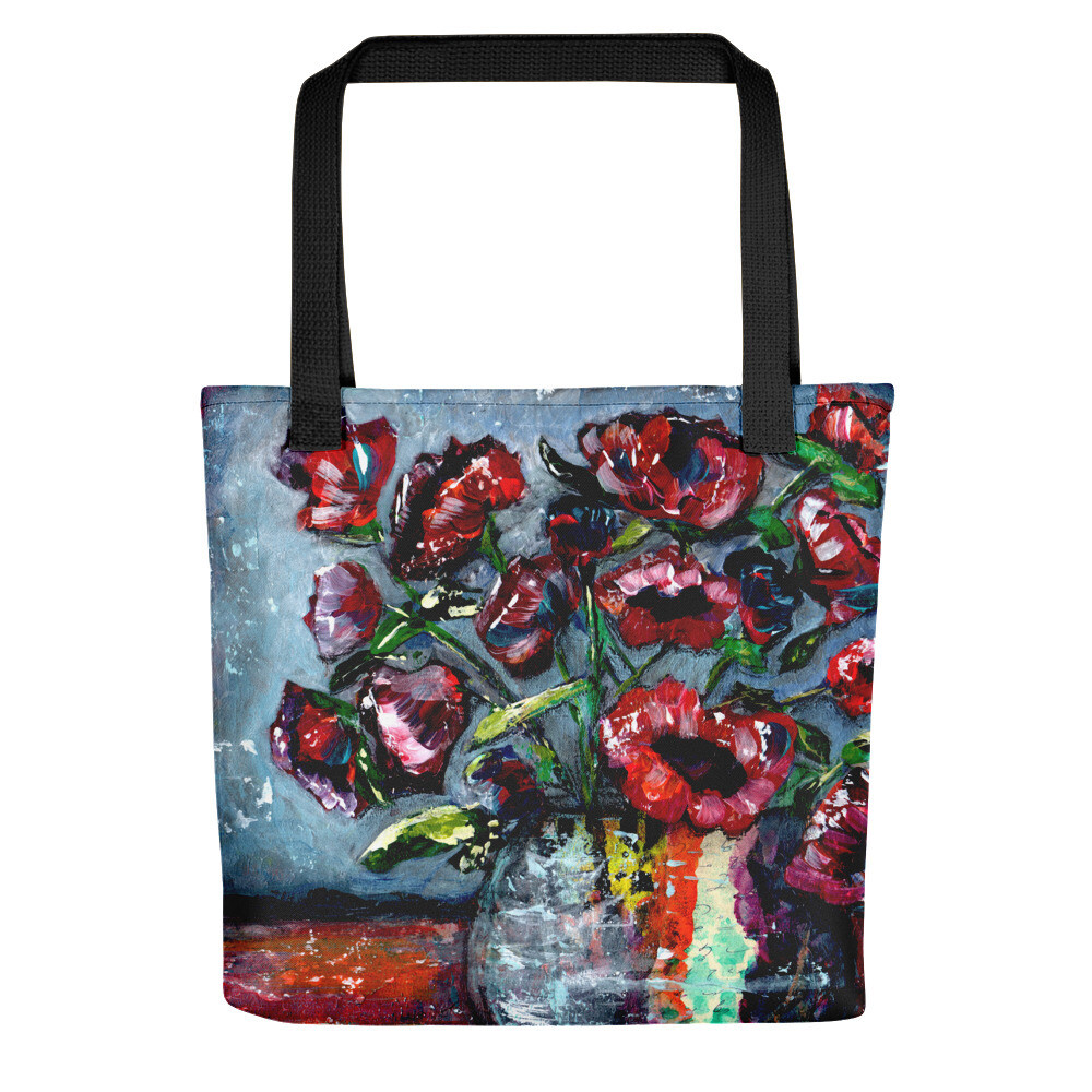 Grungy floral Tote bag