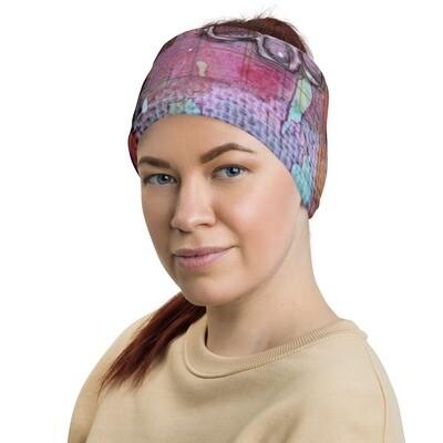 Purple Floral Head Wrap/Neck Gaiter