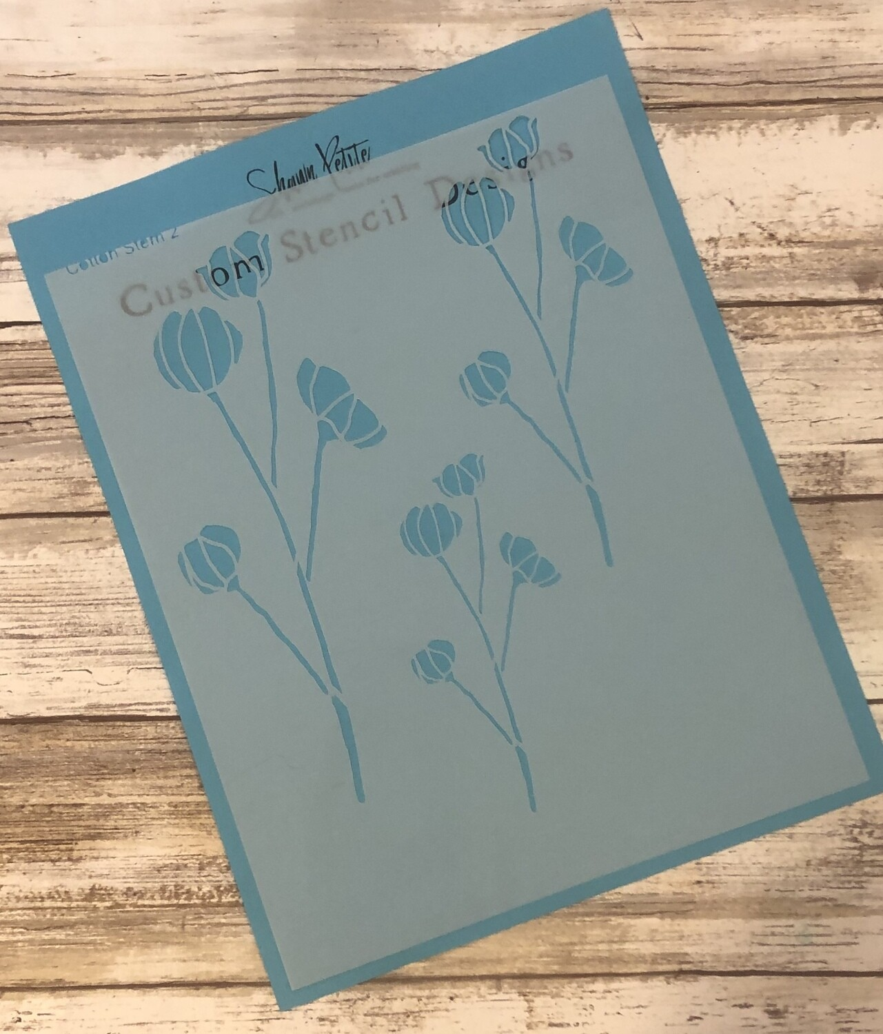 Cotton Stems 2 clearance stencil