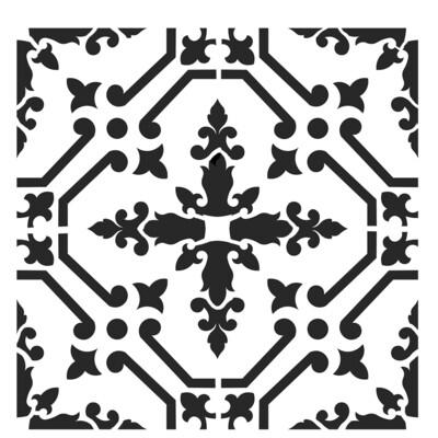Moroccan Tile 3 6x6 stencil