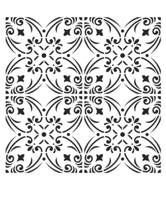 Moroccan Tile 1 8x10 stencil