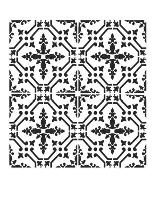 Moroccan Tile 3 8x10 stencil