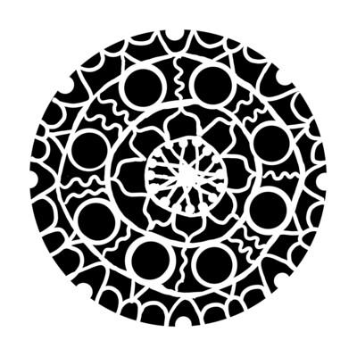 Hand Drawn Mandala stencil/mask
