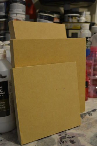 mdf wood panel 8x8 or 8x10 pack of 2