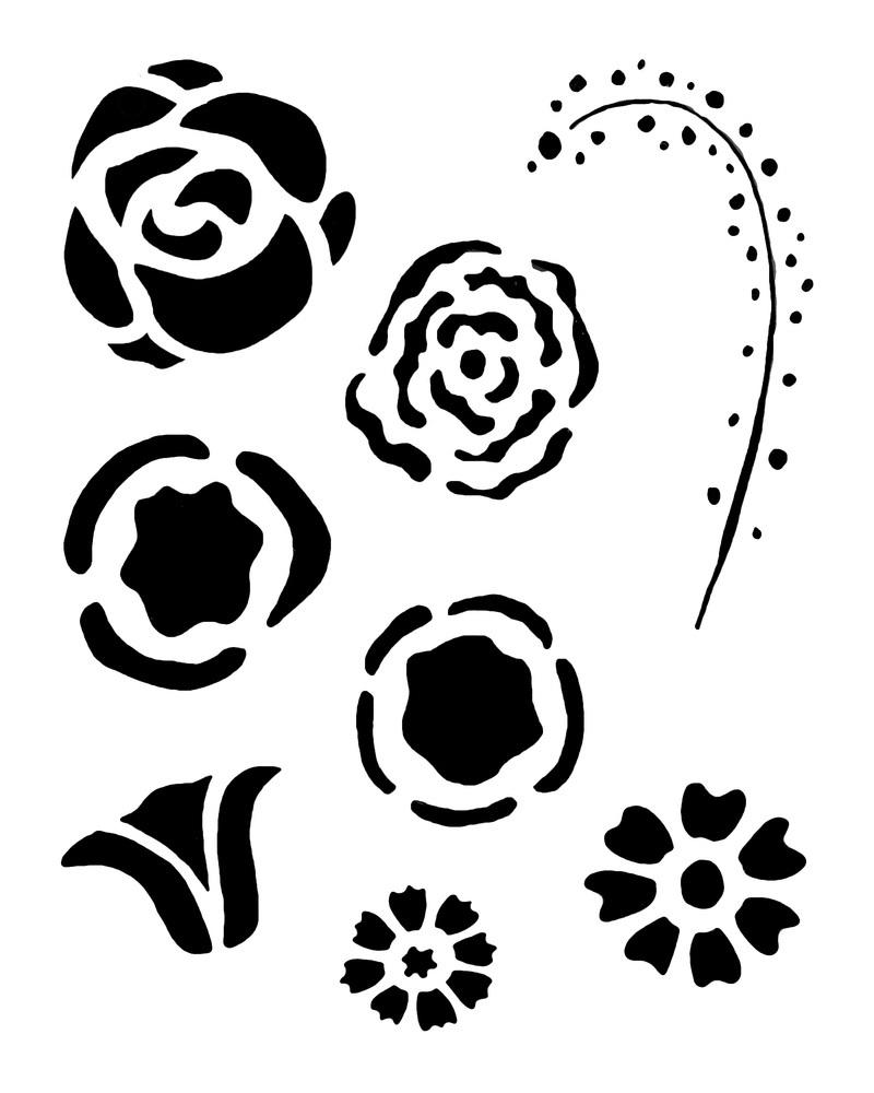 flower gang Stencil 02003