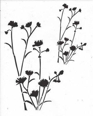 Wildflower Stencil