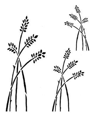 Wildflower 2 stencil