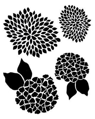 Flower Gang 4 Stencil