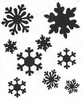 Snowflakes with masks stencil
