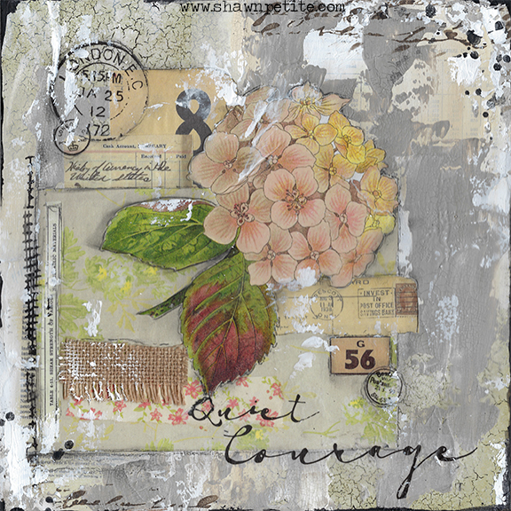 Collage pak for Sunday Inspiration 1-29-17 Quiet Courage Instant download