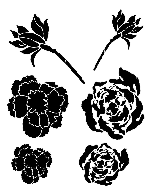 Flower Gang 5 stencil