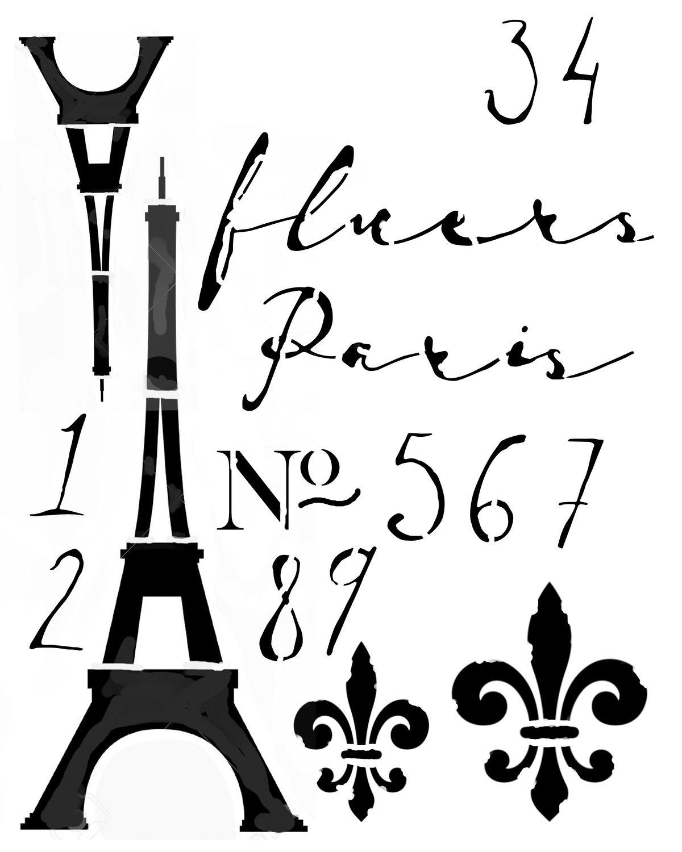 Paris 8x10 Stencil