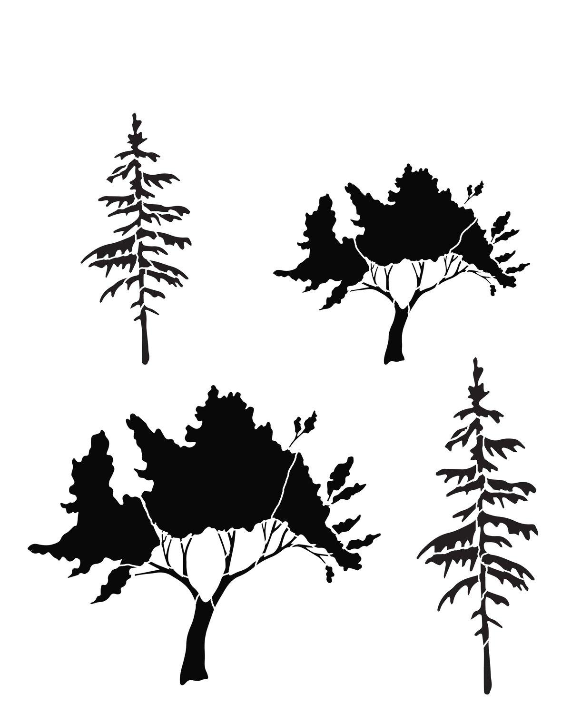Tree 3 stencil