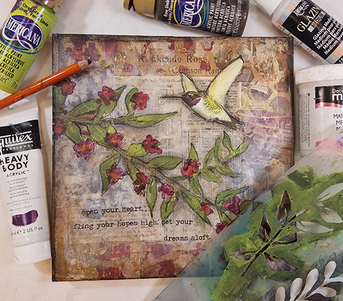 Hummingbird collage pak for Sunday Inspiration 7-23-17 instant download