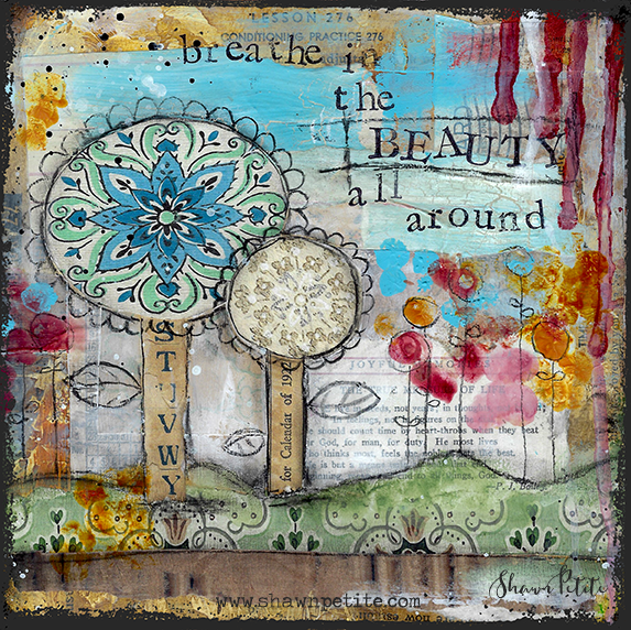 Breathe in the Beauty 8x8 print of the Original