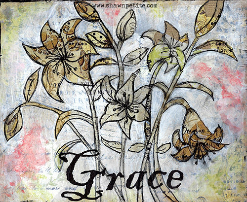 Grace flower 10x8 print of the Original