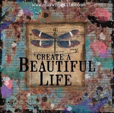 Create a beautiful life print of the original on wood