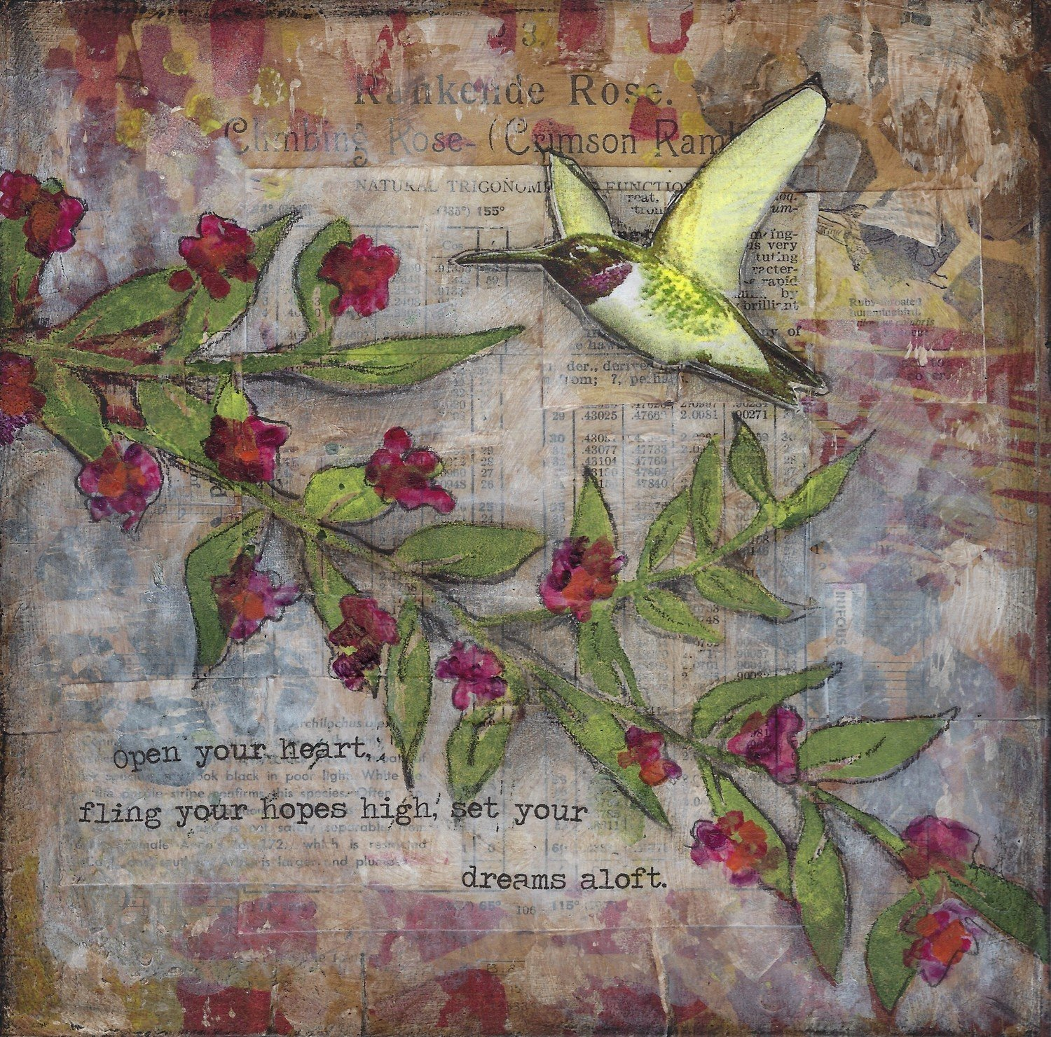 """Dreams Aloft"" hummingbird"