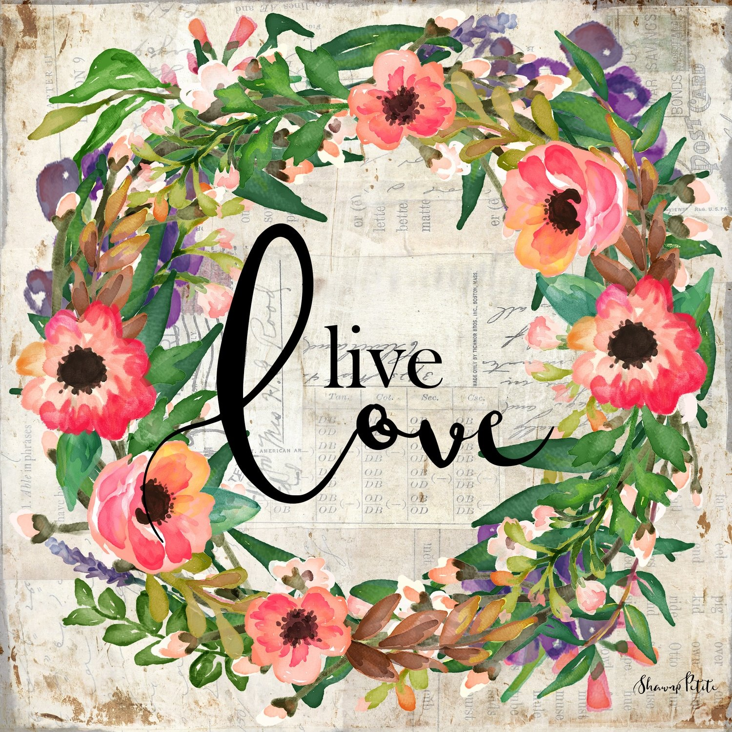 """Live Love"" wreath"