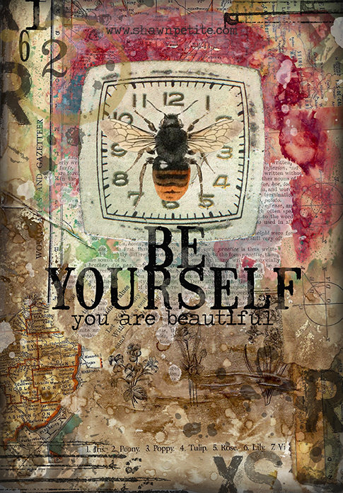 """""""Be Yourself"""" print of the original on wood"""