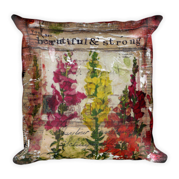 Beautiful and strong decorative Square Pillow