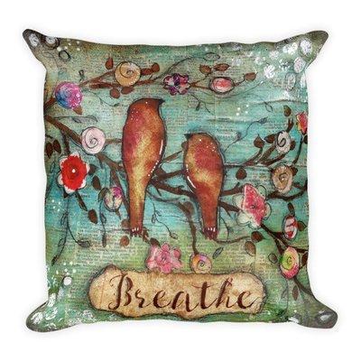 Breathe Bird Square Pillow