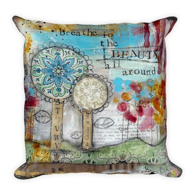 Breathe in the beauty Square Pillow