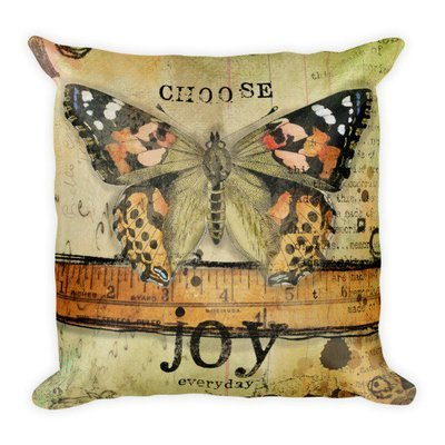 Choose joy Butterfly series Square Pillow