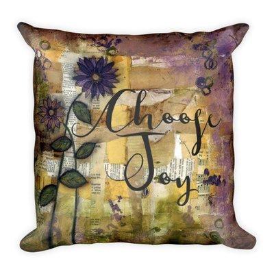 Choose joy scraps background Square Pillow