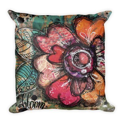 Bright flower series bloom Square Pillow