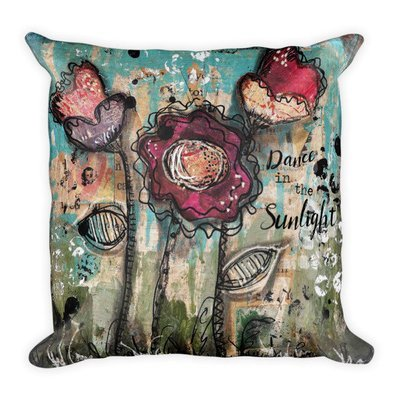 Bright flower series dance Square Pillow
