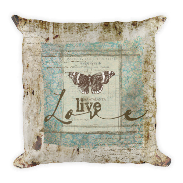 Live love Square Pillow