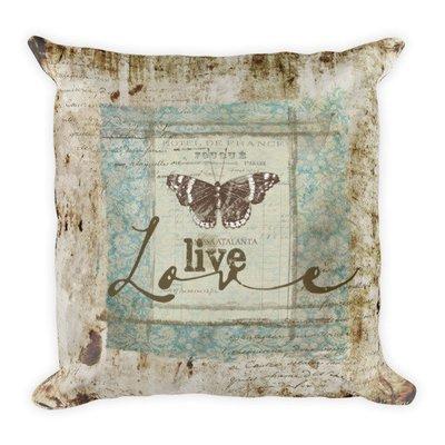 Live love Square Pillow