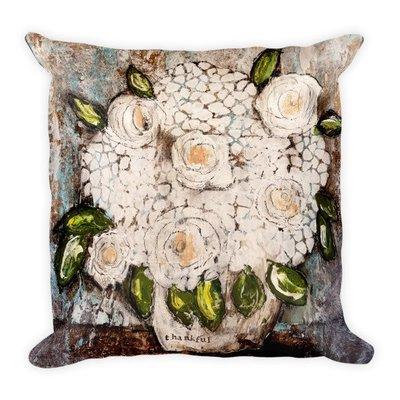 Thankful flower pot Square Pillow