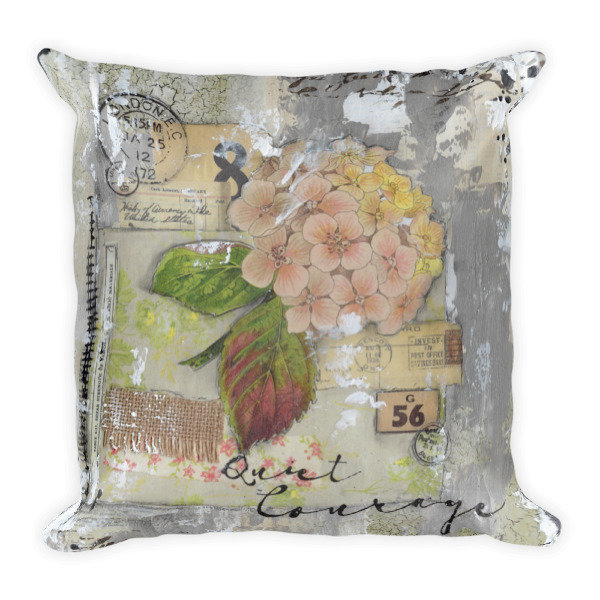 Quiet courage Square Pillow