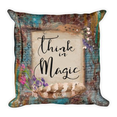 Think magic Square Pillow