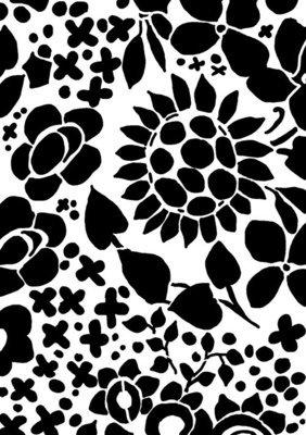 Flower drawing 1 Stencil