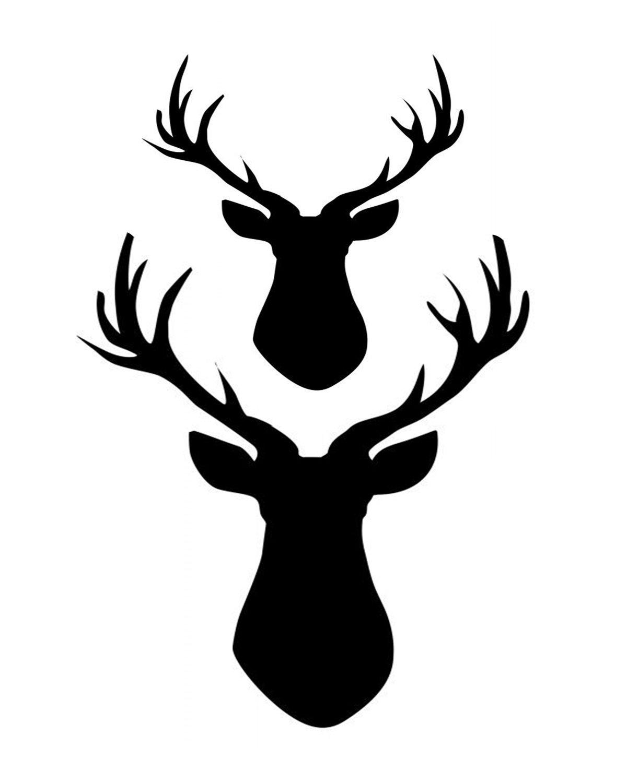 2 deer 8x10 stencil