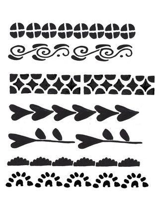 Borders Stencil